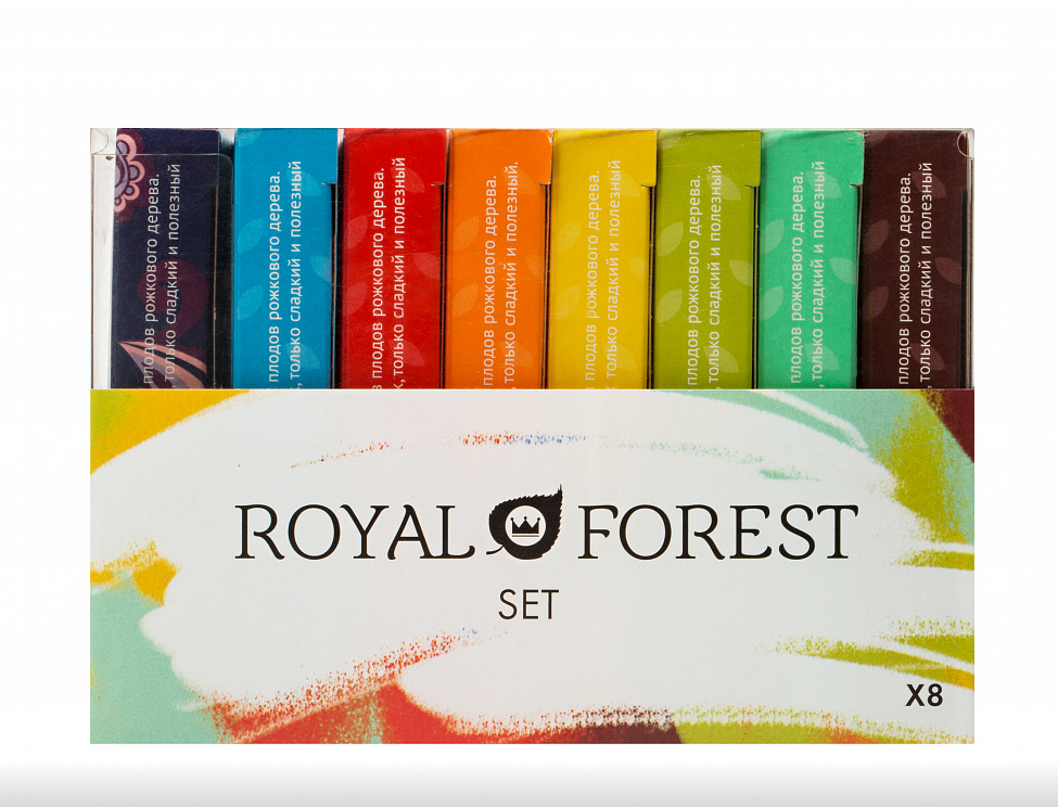 "Набор шоколада на кэробе из 8 плиток ""Royal Forest"" / 600 г"